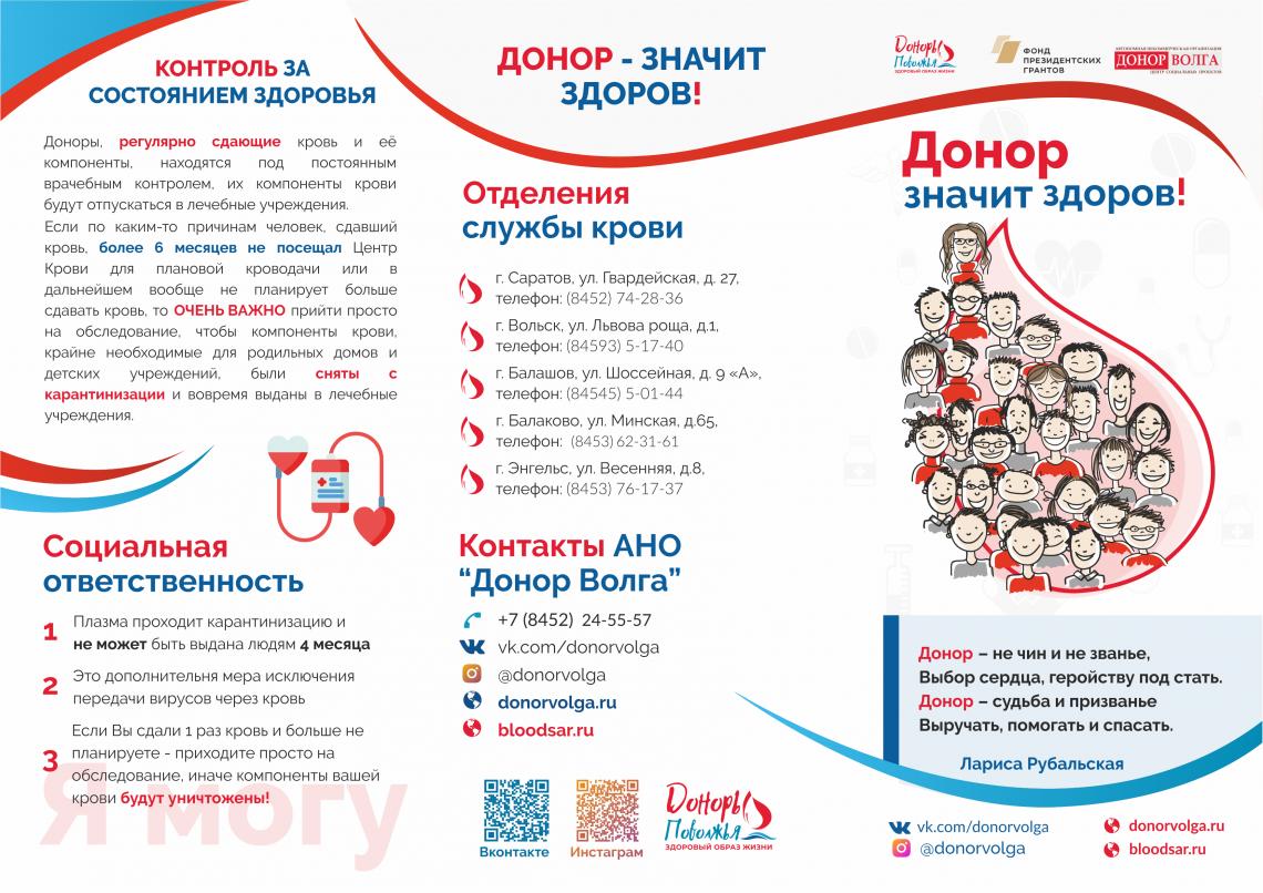 Буклеты донорам