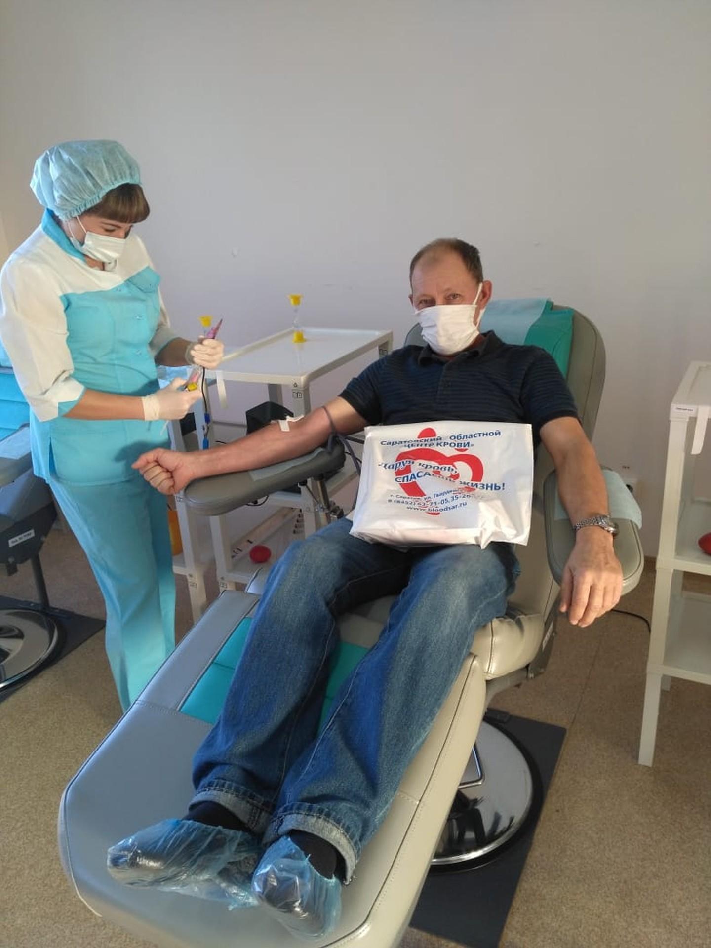 Донорская акция «Доноры Поволжья - помощь рядом» в Службе крови Саратовской области